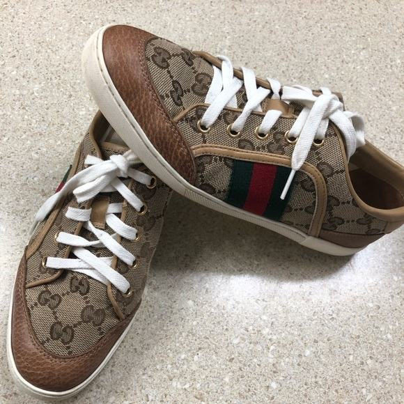 9b29ac20bfc Gucci Shoes - Authentic Gucci GG canvas print women s shoes 36